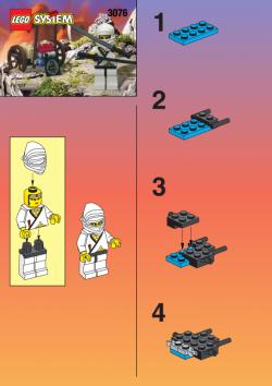 Lego 3076 Ninja Weiß Ninja Axe